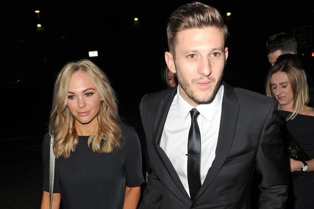 Adam Lallana with charming, Wife Emily Jubb