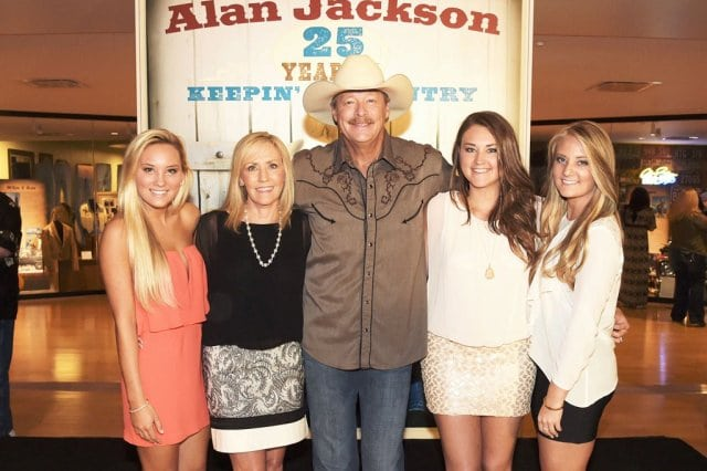 Alan Jackson, wife Denise and their daughters