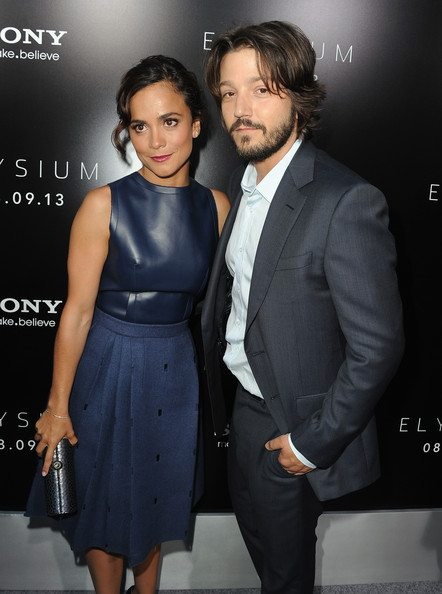 Alice Braga and ex boyfriend Diego Luna