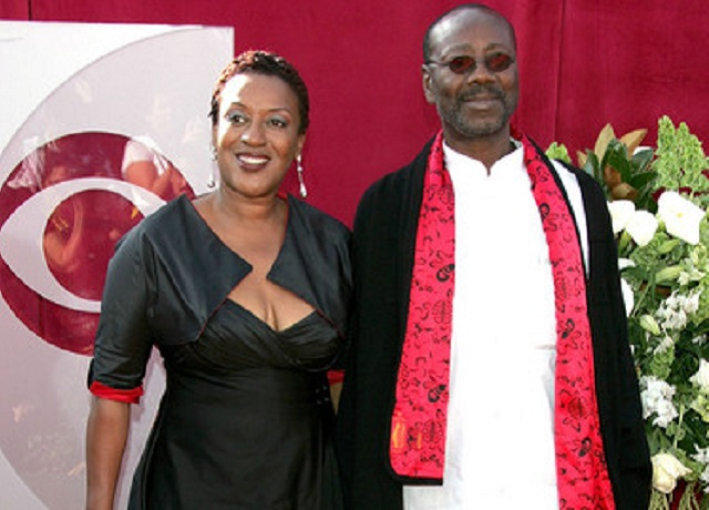 CCH Pounder (L) and her husband Boubacar Kone
