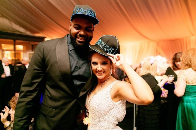 Collins Tuohy and Michael Oher
