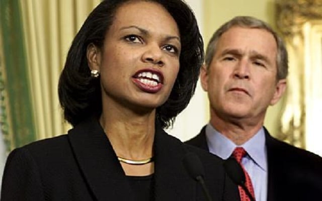 Condoleezza Rice and President George W. Bush