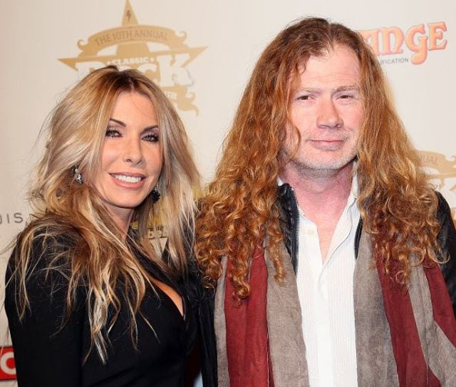 Dave Mustaine with hot, Wife Pamela Anne Casselberry