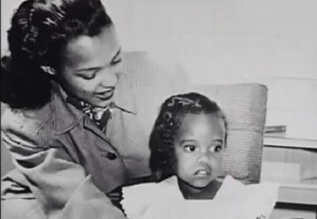 Dorothy Jean Dandridge with her daughter Harolyn Suzanne Nicholas