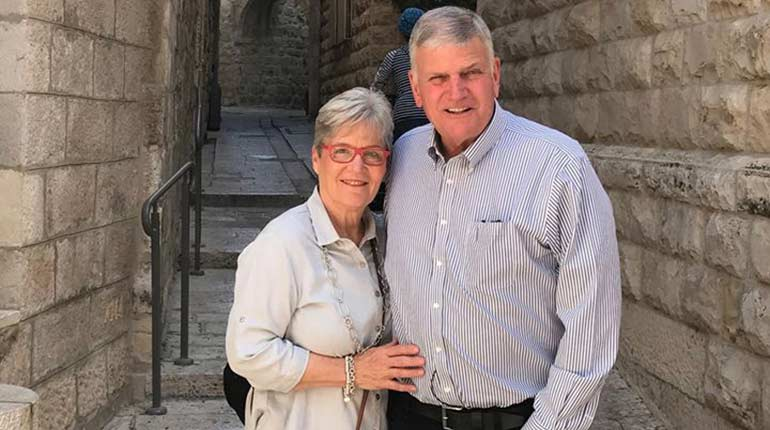 Franklin Graham and his wife Jane Austin Cunningham