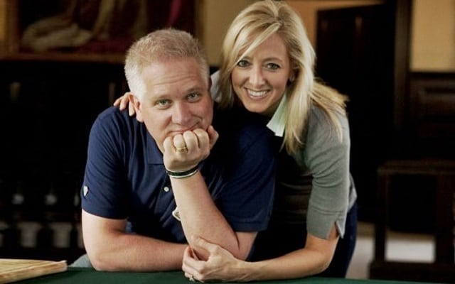 Glenn Beck and his wife, Tania