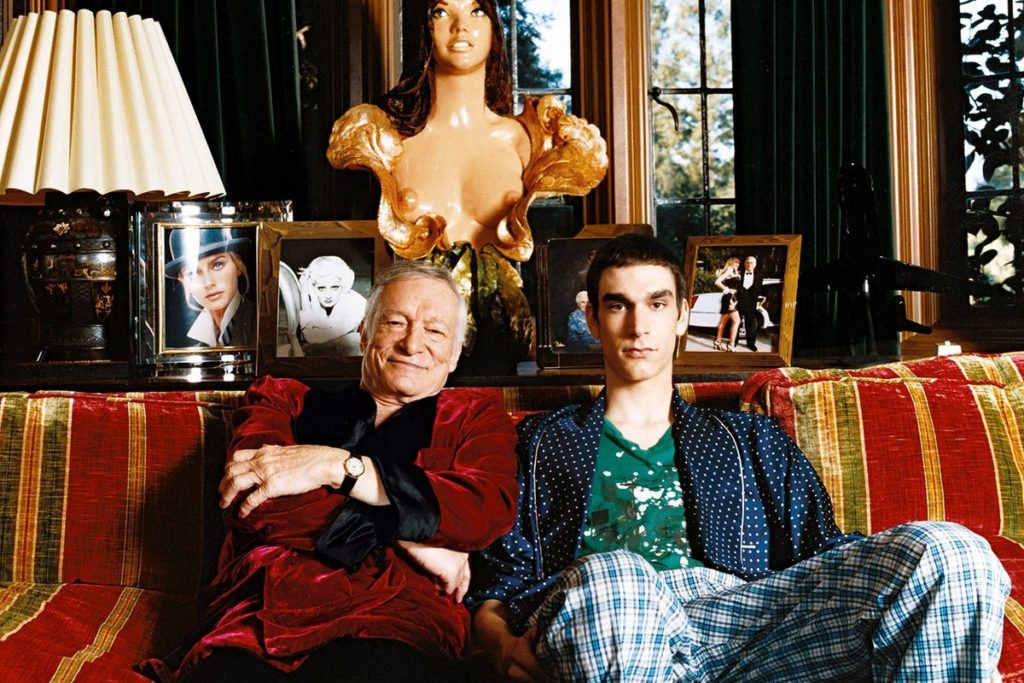 Hefner and son Martson Hefner
