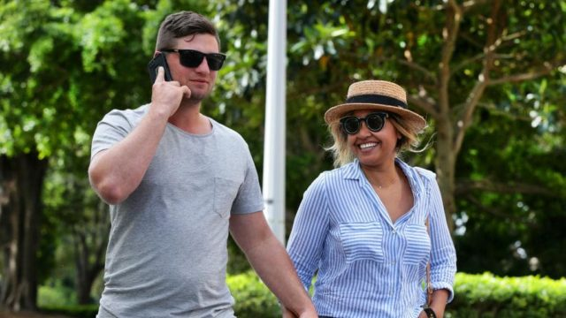 Jessica Mauboy and boyfriend/partner Themeli Magripilis