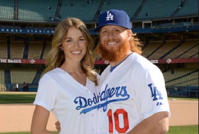 Justin Turner and his girlfriend, Kourtney Pogue