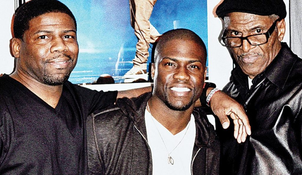 Kevin Hart With Bother, Robert Hart and Dad