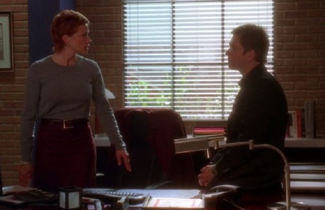 Lauren Holly and Michael Weatherly in NCIS