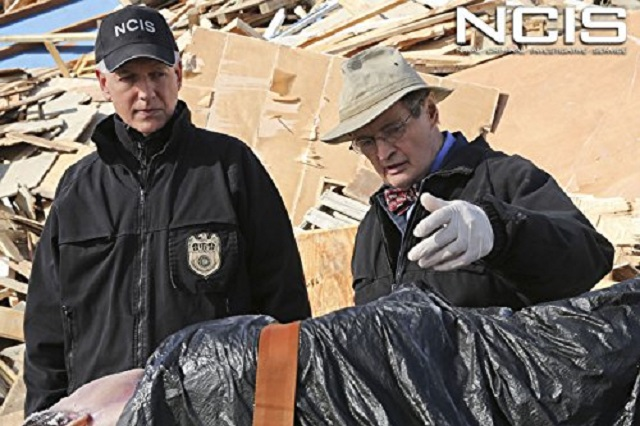 Mark Harmon and David McCallum in NCIS