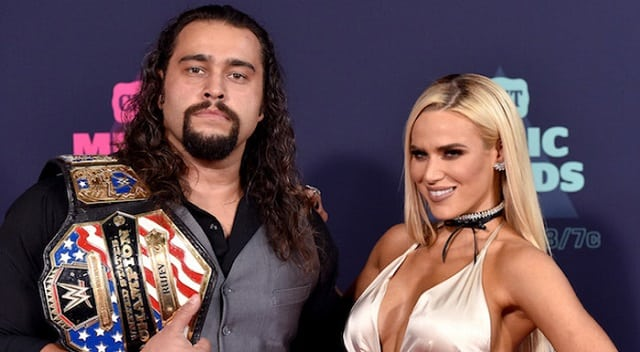 Rusev and his wife, Lana