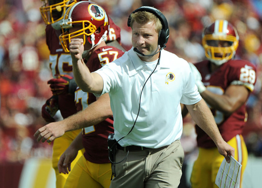 Sean McVay with the Washington Redskins