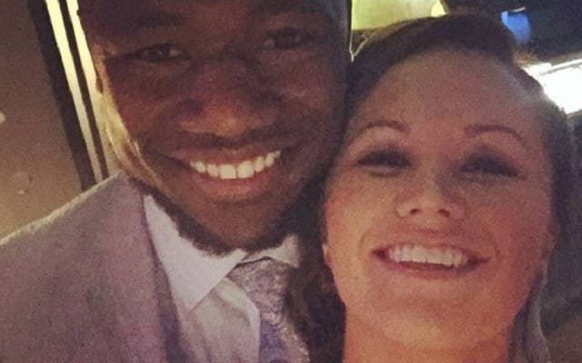 Ty Montgomery and his wife, Remy Klamer