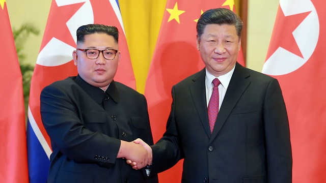 Kim Jong-un and China's President Xi Jinping