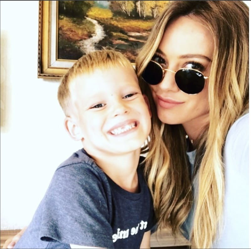 Hilary And Her Son Luca