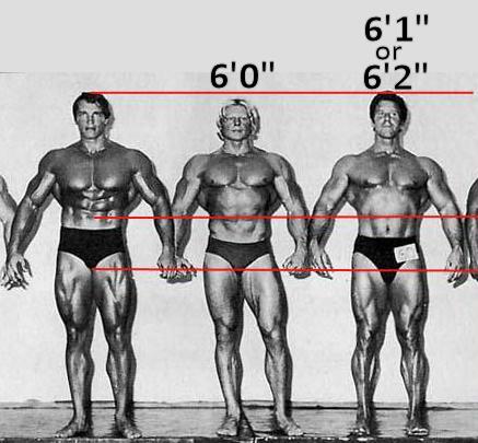Reg Park and Arnold Schwarzenegger