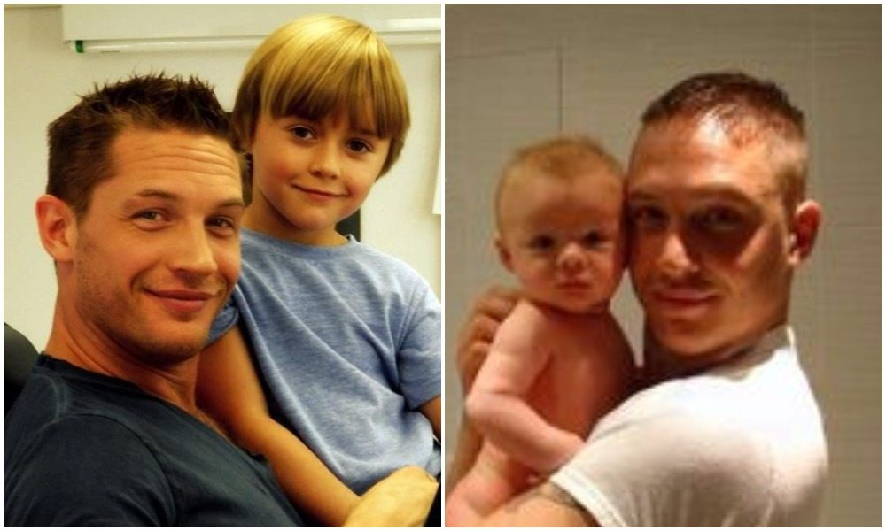 Image result for tom hardy with hischildren